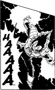 DBZ Manga Chapter 275 - Vegeta Final Crash