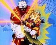 Goten attacks Mr Popo