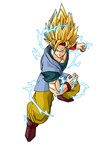 File:Goku Jr Adult Super Saiyan 2 by SpongeBoss.png