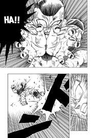 Frieza uses Kiai on SSJ Goku