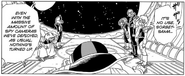 DXRD Caption of Sorbet's elites in front of him in his spaceship with Fisshi-esque instead of the echinda-like soldier, DBZ Fukkatsu No F 1st manga chapter page -9