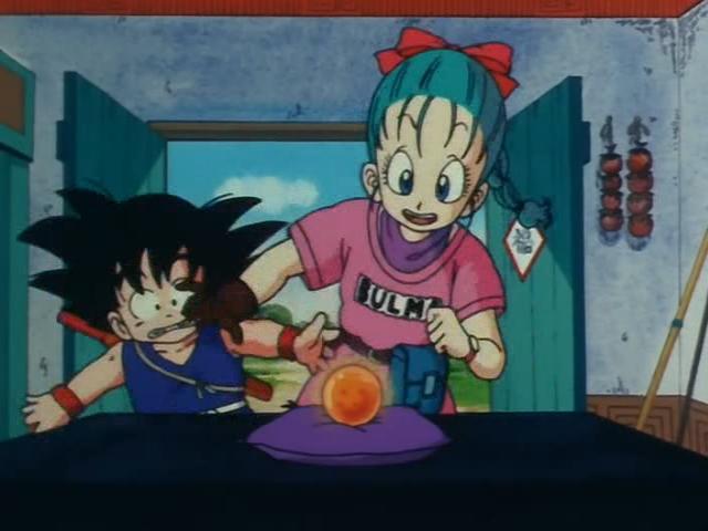 File:Bulma Pushes Goku.jpg
