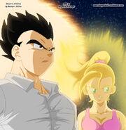 Dragon Ball Multiverse(Mystic Gohan) With Son Bra(Super Saiyan)