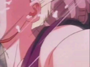 Turles hits gohan in the neck mkaeing the boy cough up spit