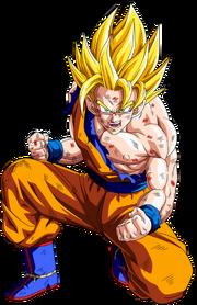 Goku ssj2 painted by aldiyansaiyan-d33oi6t