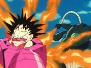 Shu burning Goku