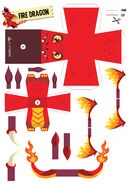 Paper toy firedragon-12