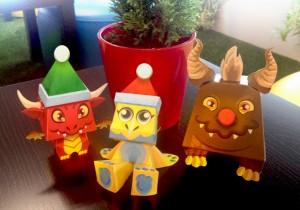 Dragon-paper-craft-christmas-300x210