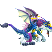 Blue Alien Dragon 3