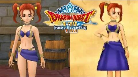 All Changes Made To Jessica's Costumes In 3DS Dragon Quest VIII