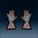 Sprite armor leather sharkskin hands