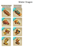 how to get water dragon armor in dragons of atlantis
