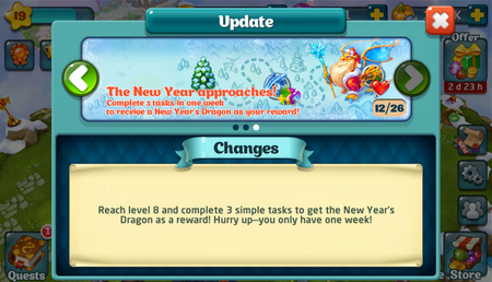 New Years Dragon Update