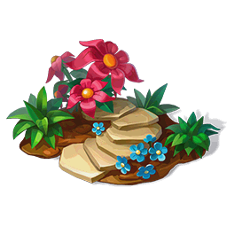 Flowerbed with Pink FlowersDecor