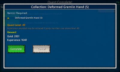 Collection-Deformed Gremlin Hand