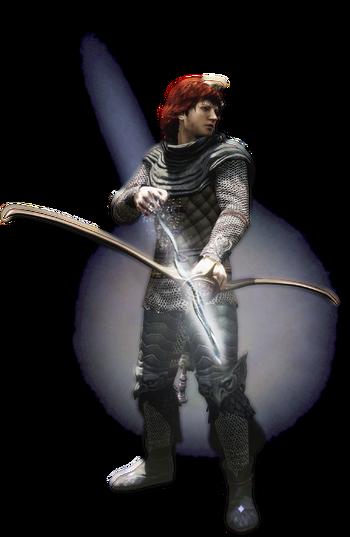 Savan como arquero mágico.