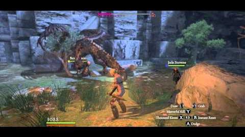Cursed Dragon slain with only Rusted daggers I, Arisen undamaged