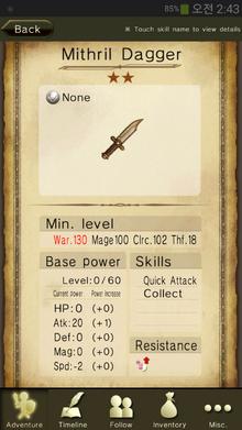 Mithril Dagger