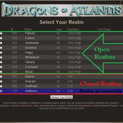Inside Change Realm screen