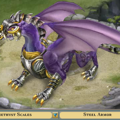 Amethyst Scales with Armor