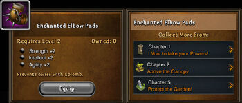 Enchanted elbow pads
