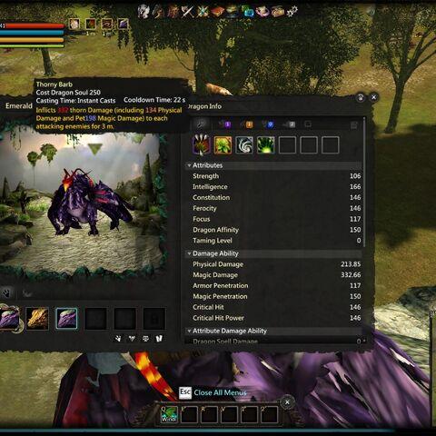 Emerald Purple Dragon with Spine Shield
