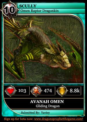 Dragon Card Gliding Example