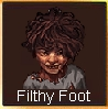 Filthy foot