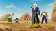 Trunks arrive at the spot