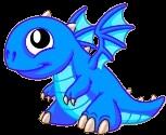 Blue Fire Dragon Baby
