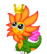 FlowerDragonBabyCrown