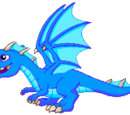 Blue Fire Dragon