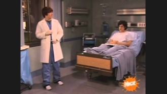 Josh in Bed and Drake pretending to be a doctor