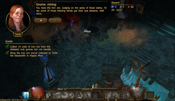 Gnome mining a