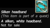 Silken headband