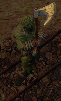 A. rune axe