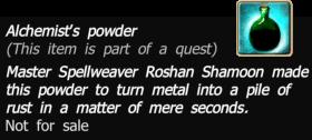 Alchemists powder