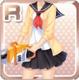 Chainsaw Schoolgirl Yellow