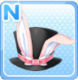 Silk Rabbit Hat Pink