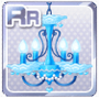 White Day Chandelier Blue
