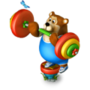 Bear weight-lifter deco