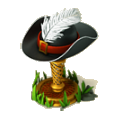 Feathered hat deco