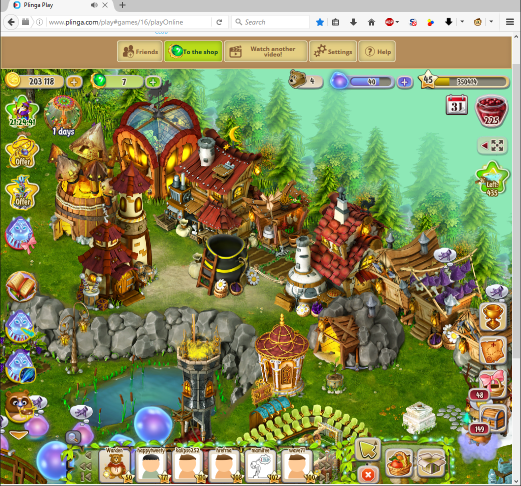 Dreamfields main interface