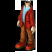 Clothesm red jacket