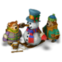 Bears with Snowman deco