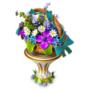 Pedestal with flowers deco
