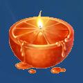 Coll candle orange
