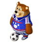 Bear footballer deco