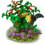 Toucan on branch deco