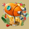 Coll lunar toy rocket